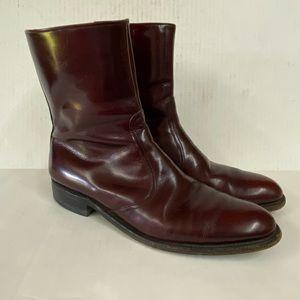 Allen Edmonds Andover Burgundy Merlot Ankle Boot